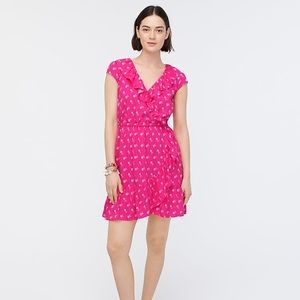 NWT J. Crew V-neck Ruffle Dress floral print